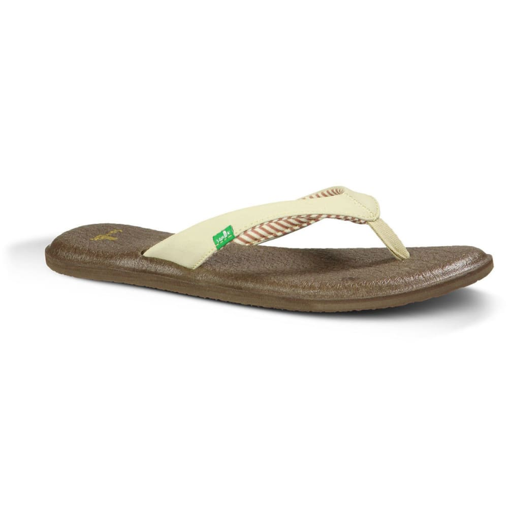 SANUK Women's Yoga Chakra Sandals, Light Natural - LIGHT NATURAL