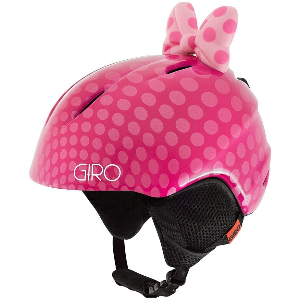 GIRO Youth Launch Plus Helmet - PINK BOW POLKA DOTS