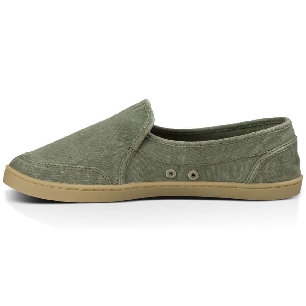 SANUK Women's Pair O Dice Slip-On Shoes, Olive - OLIVE