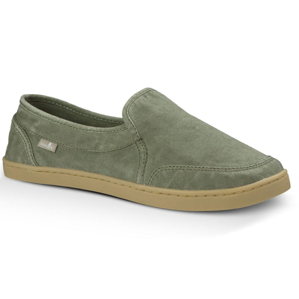 SANUK Women's Pair O Dice Slip-On Shoes, Olive - OLIVE