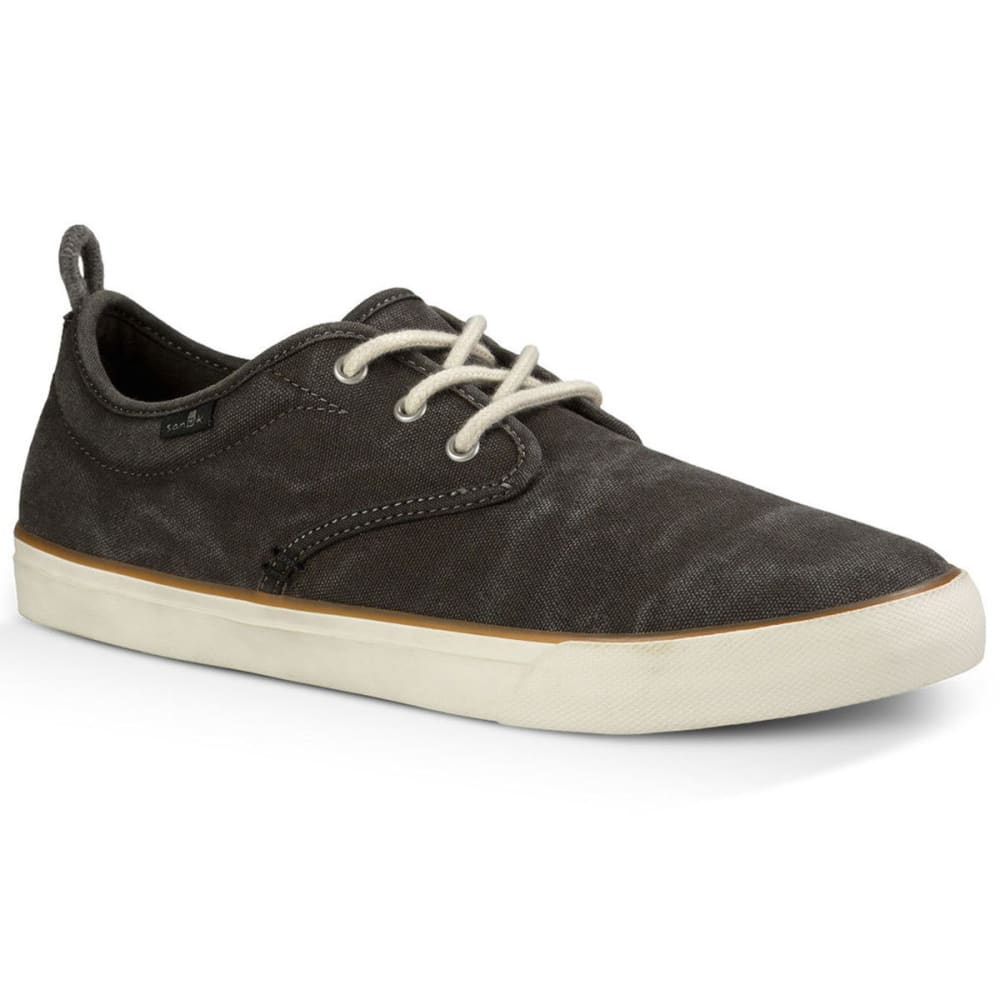 SANUK Men's Guide Plus Shoes, Washed Black 8