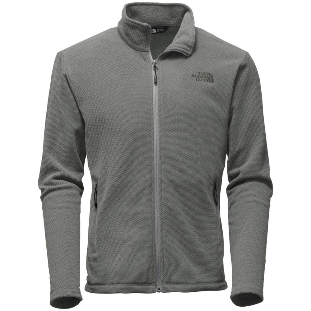 THE NORTH FACE Men's Texture Cap Rock Full-Zip Fleece - QFT-MID GREY TEXTURE