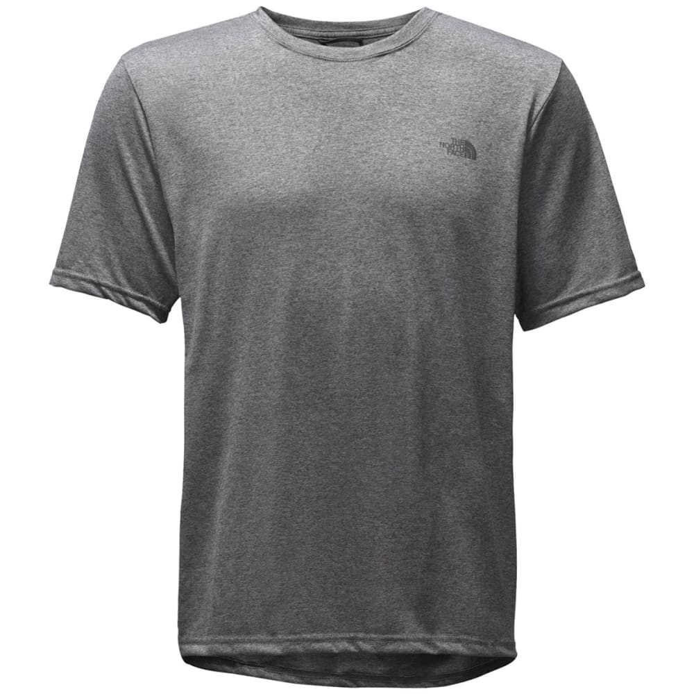 THE NORTH FACE Men's Reaxion Amp Crew Short-Sleeve Tee - HAT-TNF MED GRY HTHR