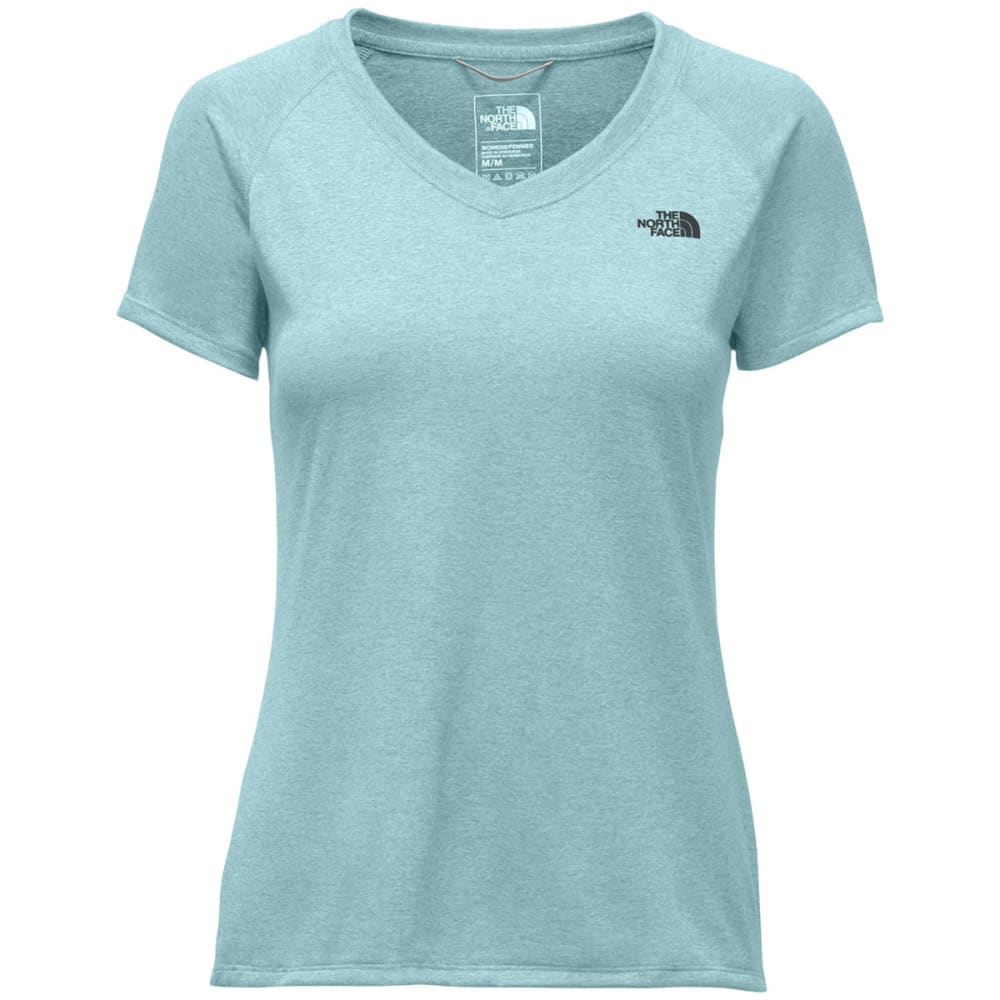 THE NORTH FACE Women's Reaxion Amp V-Neck Tee - TLF-WINDMILL BLUE HT
