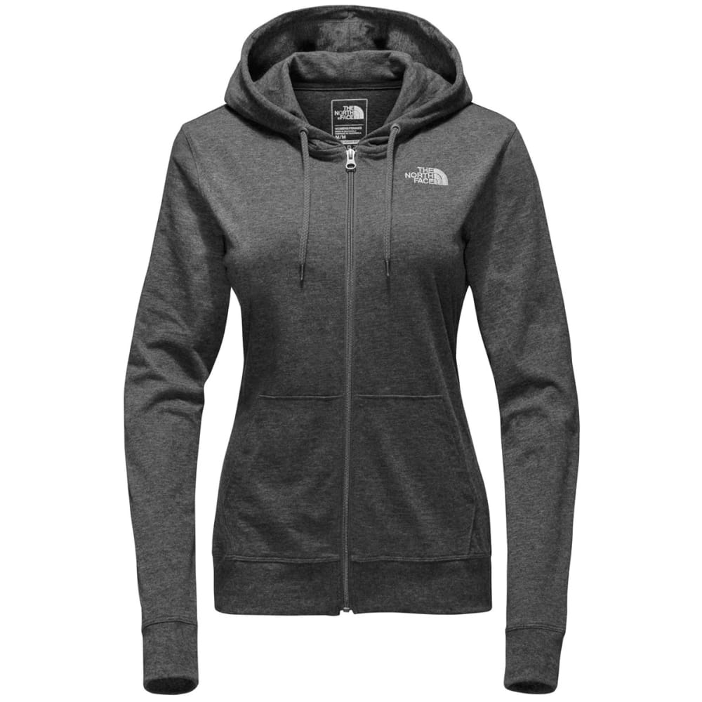 THE NORTH FACE Women's Camp TNF Lightweight Full-Zip Hoodie - DYZ-TNF DRK GRY HTHR