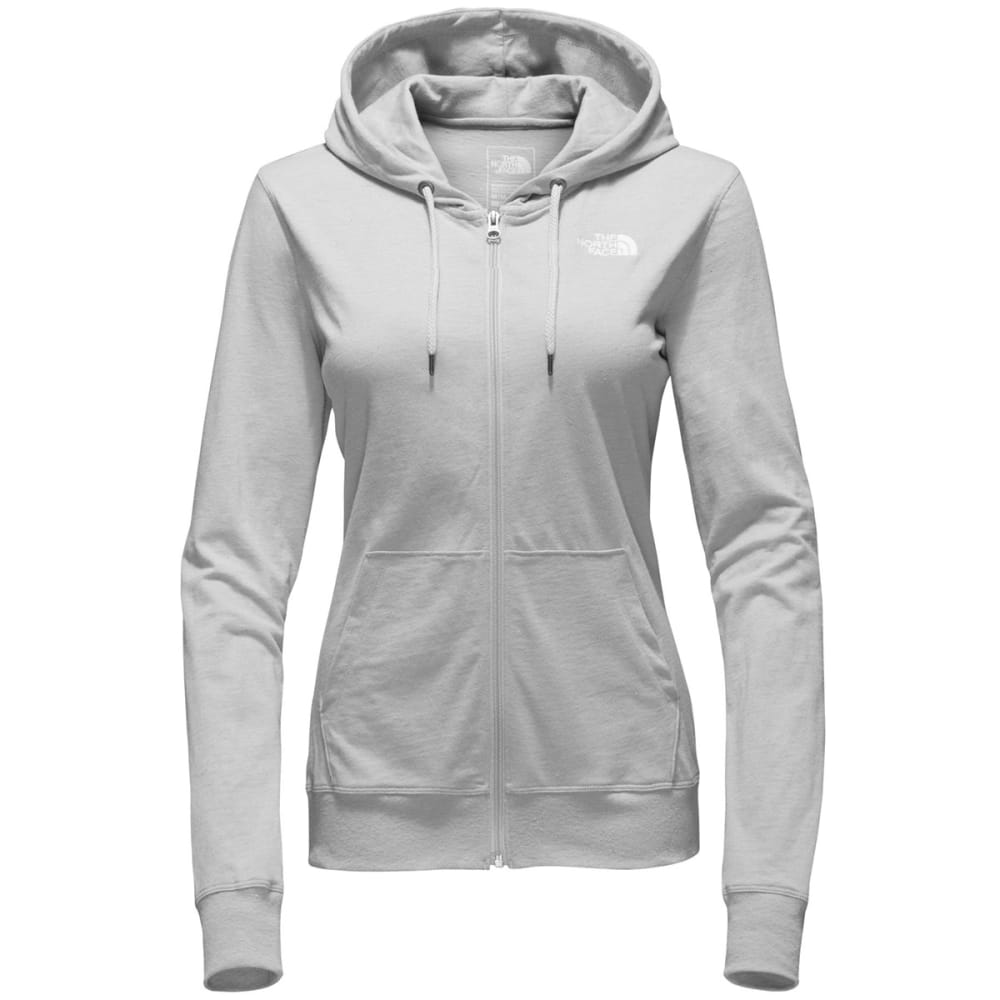 THE NORTH FACE Women's Camp TNF Lightweight Full-Zip Hoodie - DYX-TNF LT GRY HTHR