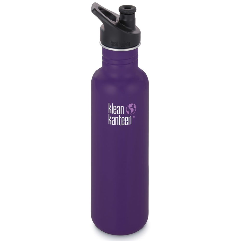 KLEAN KANTEEN 27 oz. Loop Top Stainless Steel Water Bottle - BERRY SYRUP/609954