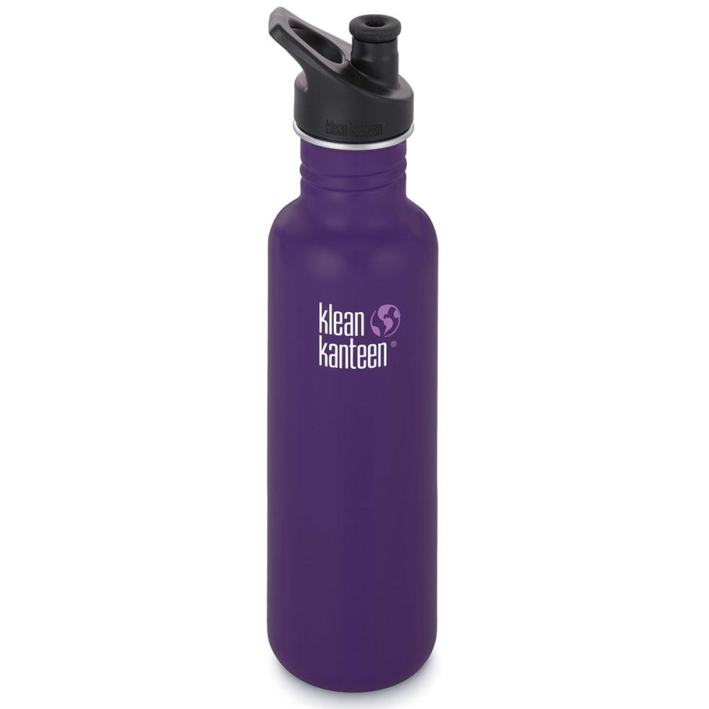 KLEAN KANTEEN 27 oz. Loop Top Stainless Steel Water Bottle - BERRY SYRUP/609954