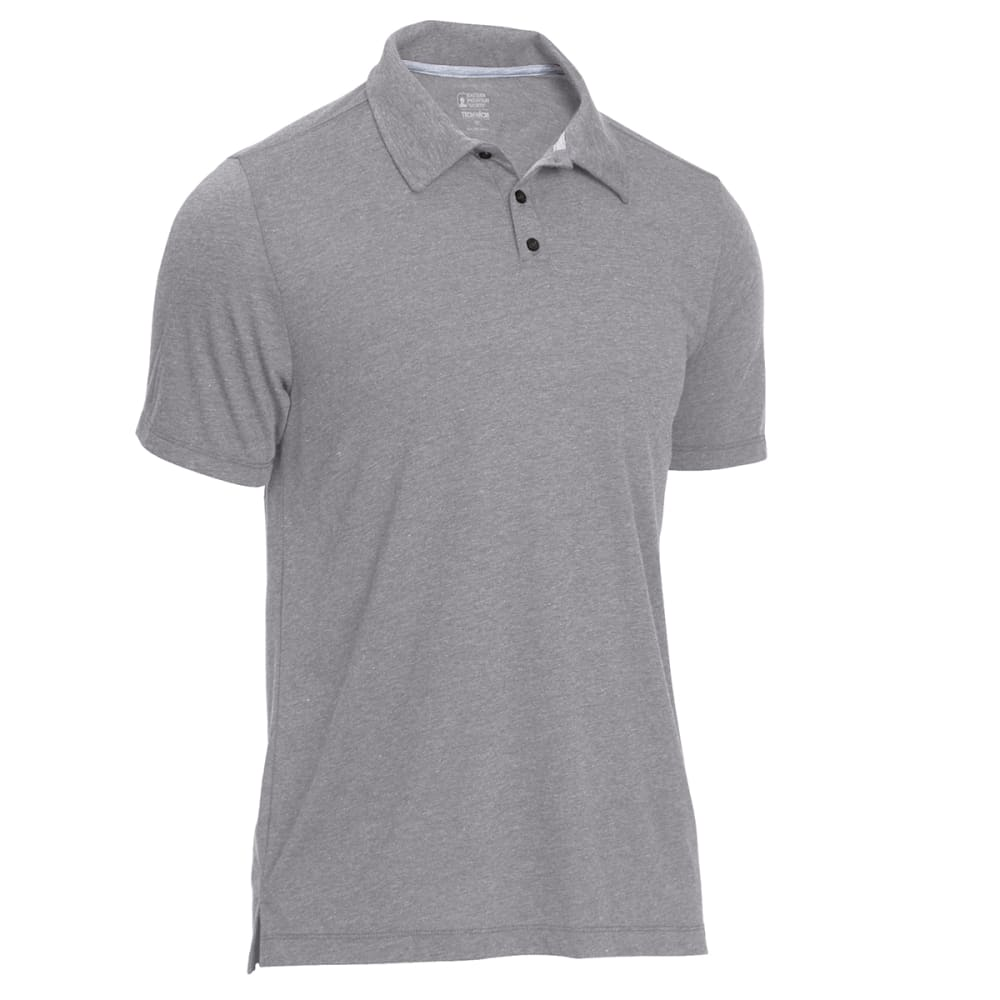 EMS Men's Techwick Vital Polo - NEUTRAL GREY HTR