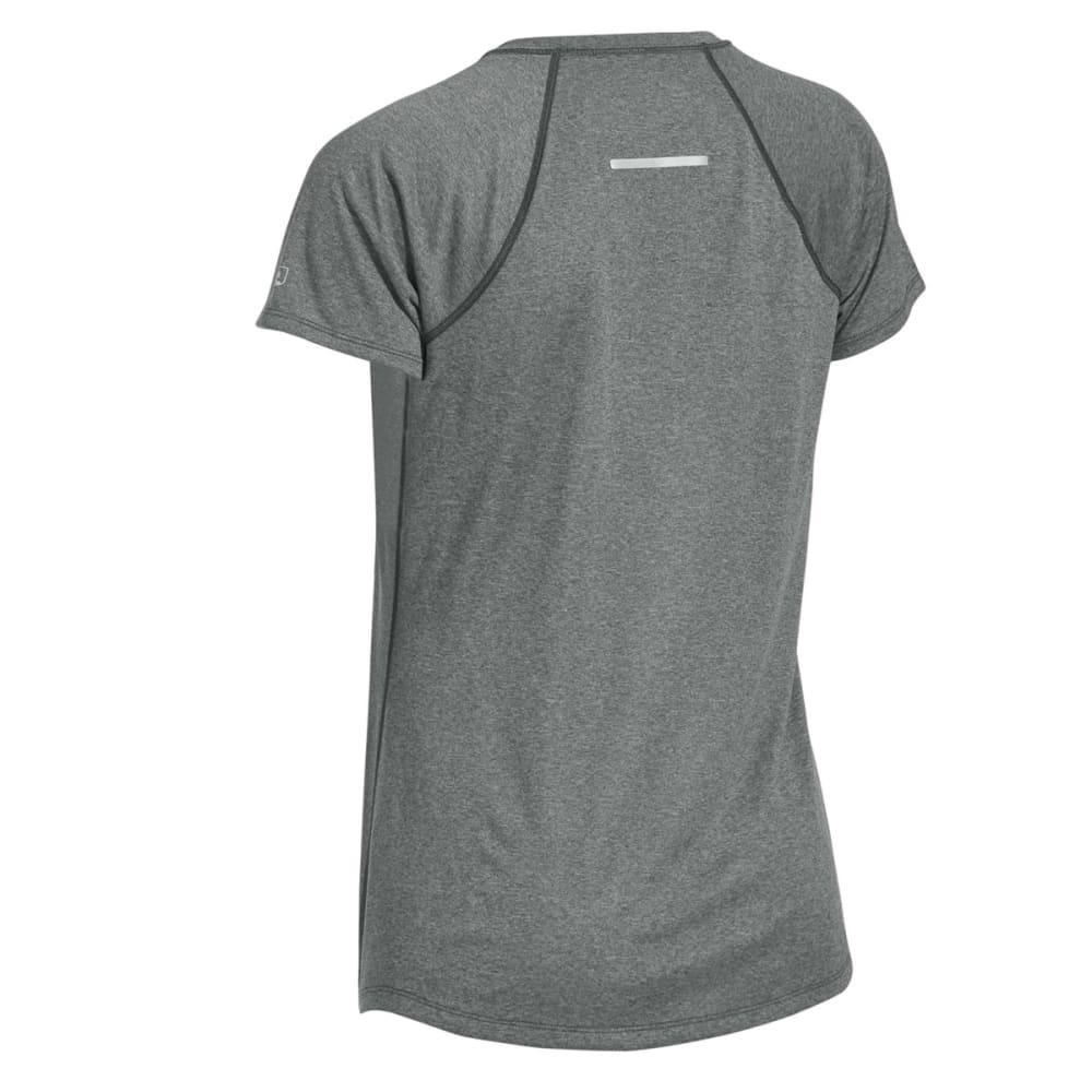 EMS Women's Techwick Essence Crew Short-Sleeve Shirt - NEUTRAL GREY HEATHER