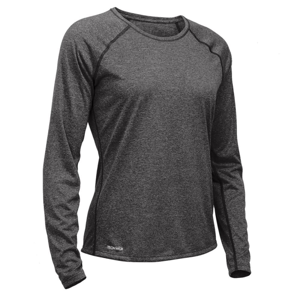 EMS Women's Techwick Essence Crew Long-Sleeve Shirt - COAL HEATHER