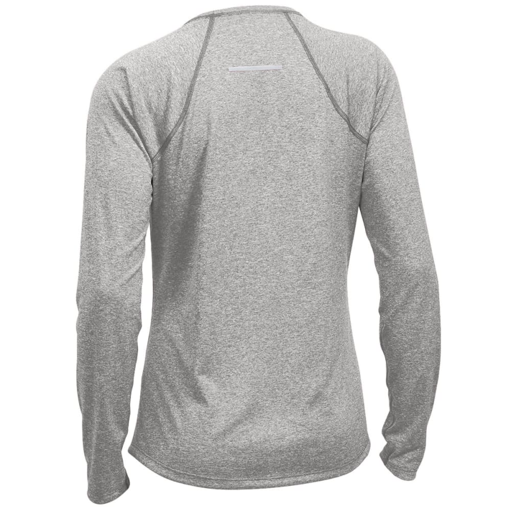 EMS Women's Techwick Essence Crew Long-Sleeve Shirt - NEUTRAL GREY HTR