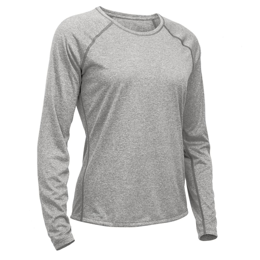 EMS® Women's Techwick® Essence Crew Long-Sleeve Shirt - NEUTRAL GREY HTR