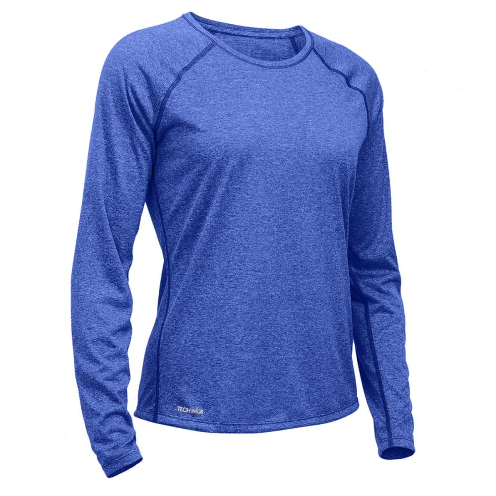 EMS Women's Techwick Essence Crew Long-Sleeve Shirt - MAZARINE BLUE HTR