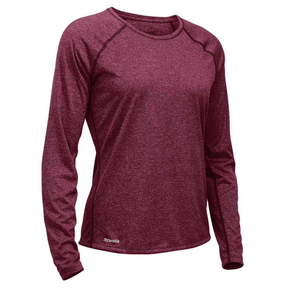 Ems Womens Techwick Essence Crew Long-Sleeve Shirt - Black - Size S S17W0027