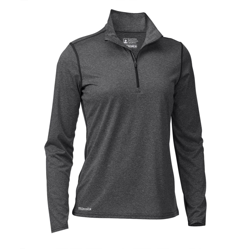 EMS Women's Techwick Essence 1/4  Zip - COAL HEATHER
