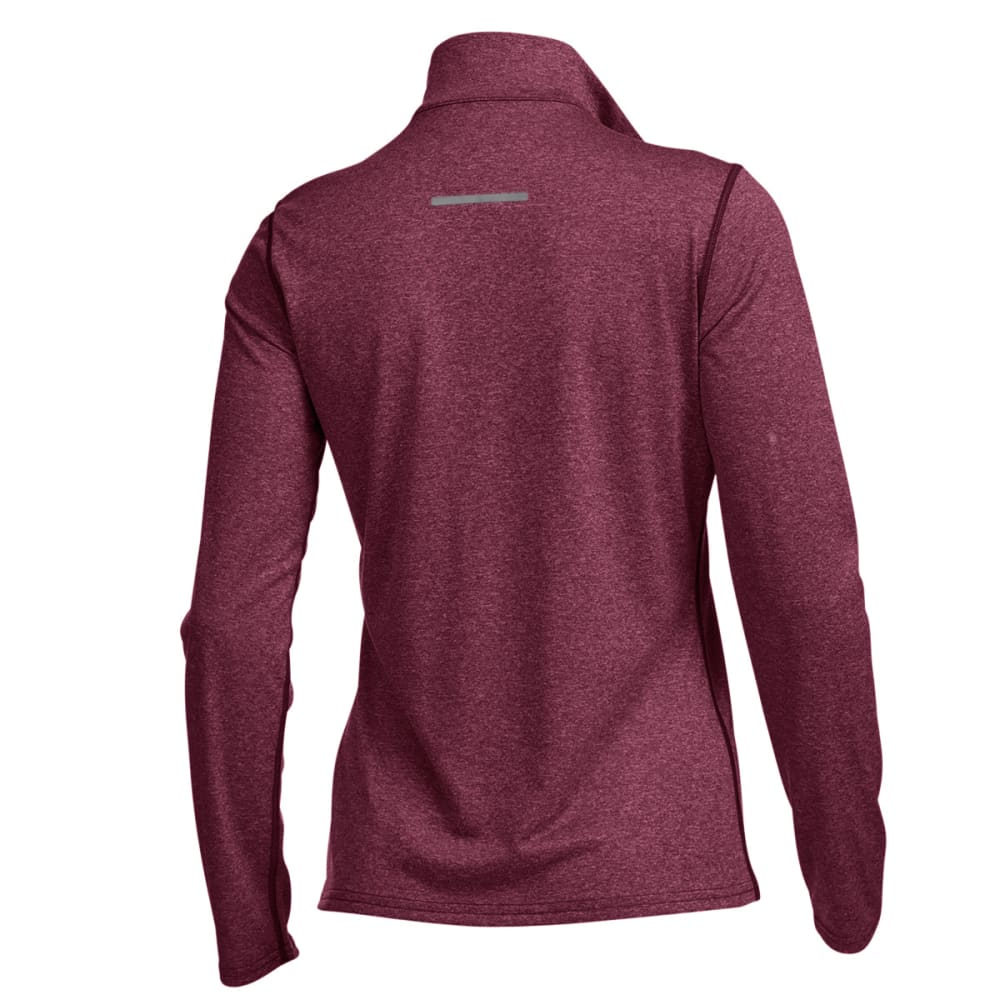 EMS® Women's Techwick® Essence ¼ Zip - RED PLUM HEATHER
