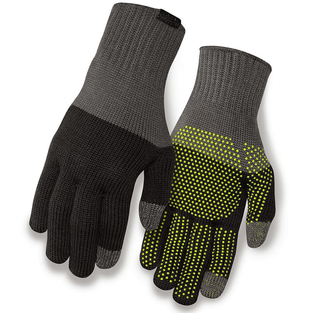 GIRO Merino Wool Bike Gloves - GREY/BLACK