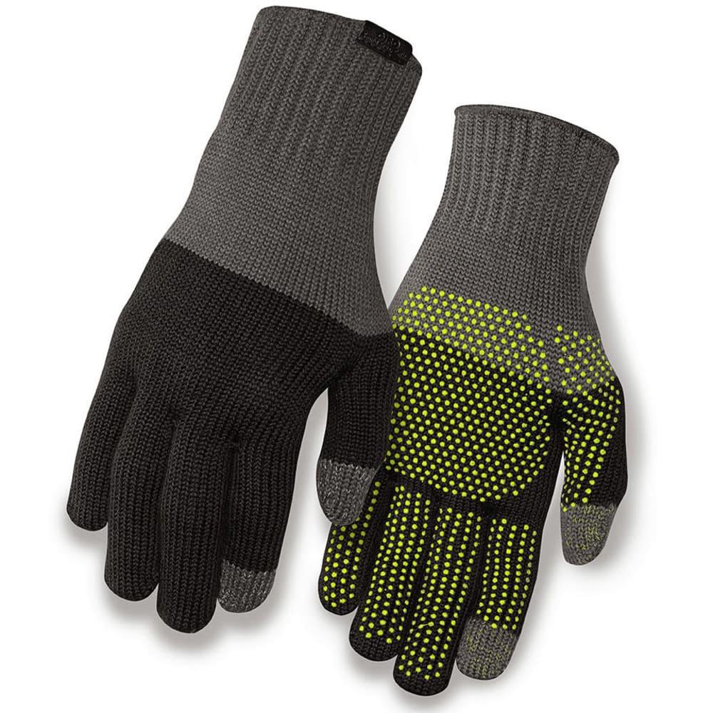 GIRO Merino Wool Bike Gloves - GREY/BLACK