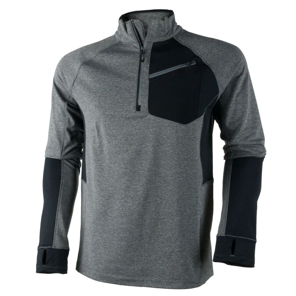 OBERMEYER Men's Flight Sport 75WT Zip Top - LIGHT HEATHER