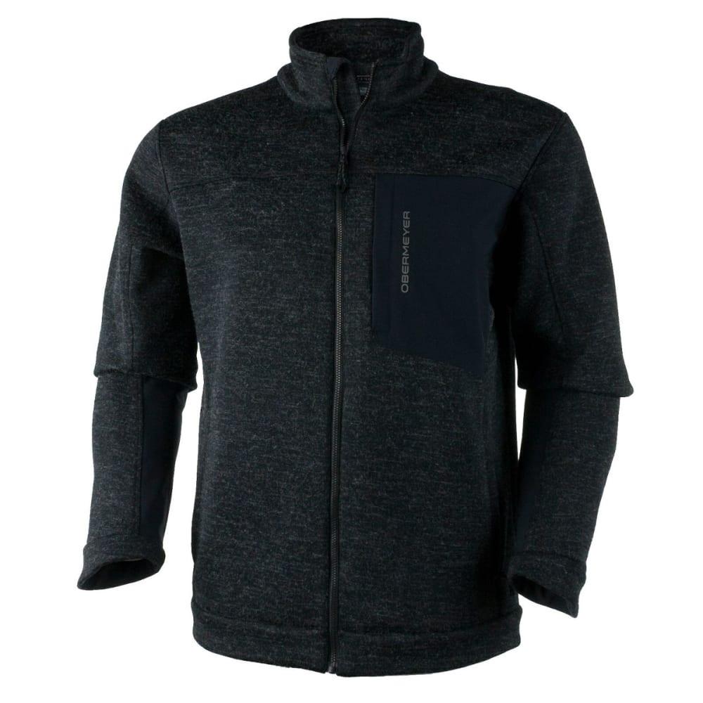 OBERMEYER Men's Gunner Bonded Knit Jacket - BLACK