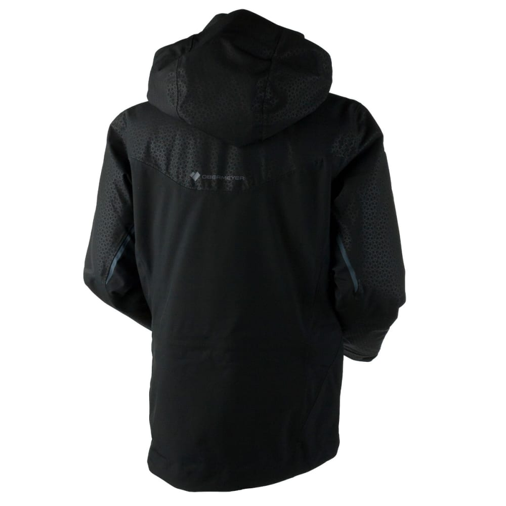 OBERMEYER Men's Supernova Shell Jacket - BLACK DEBOSS