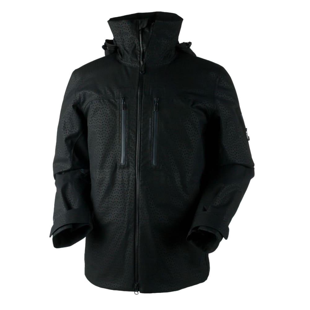 OBERMEYER Men's Supernova Shell Jacket - BLACK DEBOSS