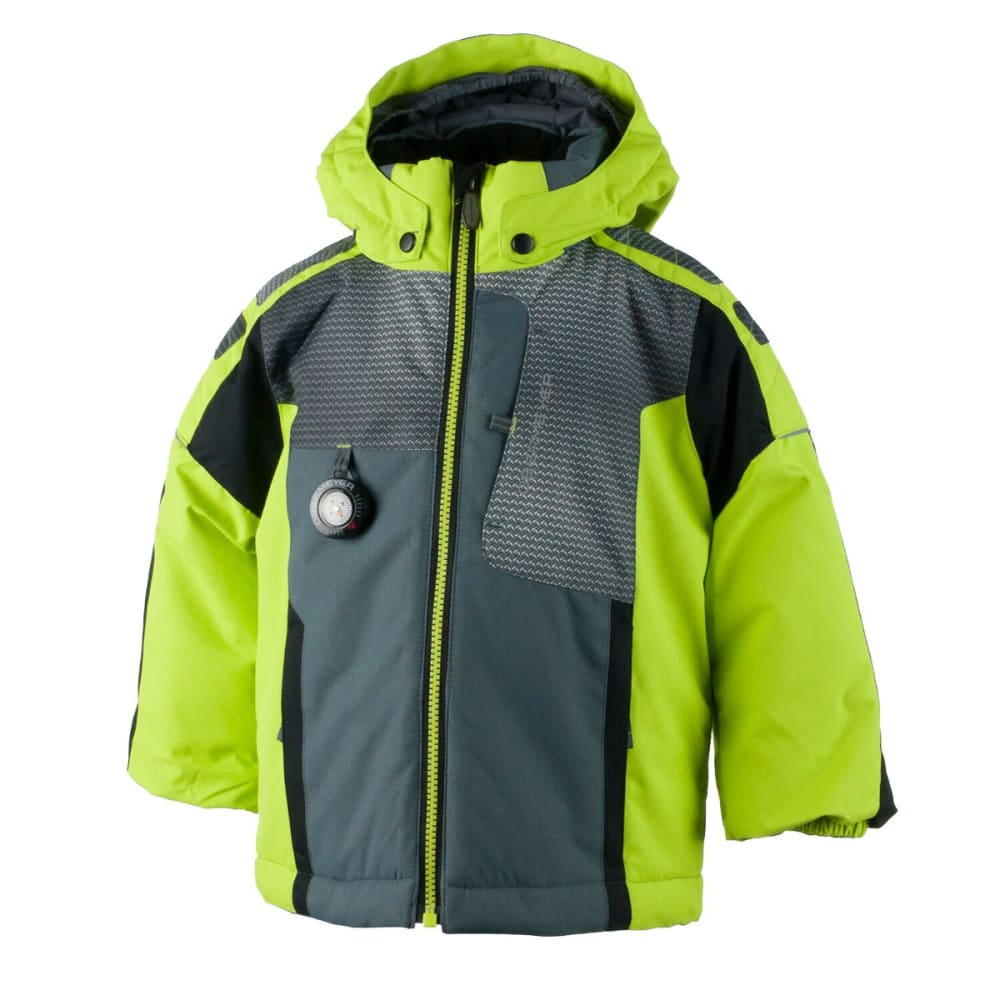 OBERMEYER Boys' Blaster Jacket - SCREAMIN'GREEN