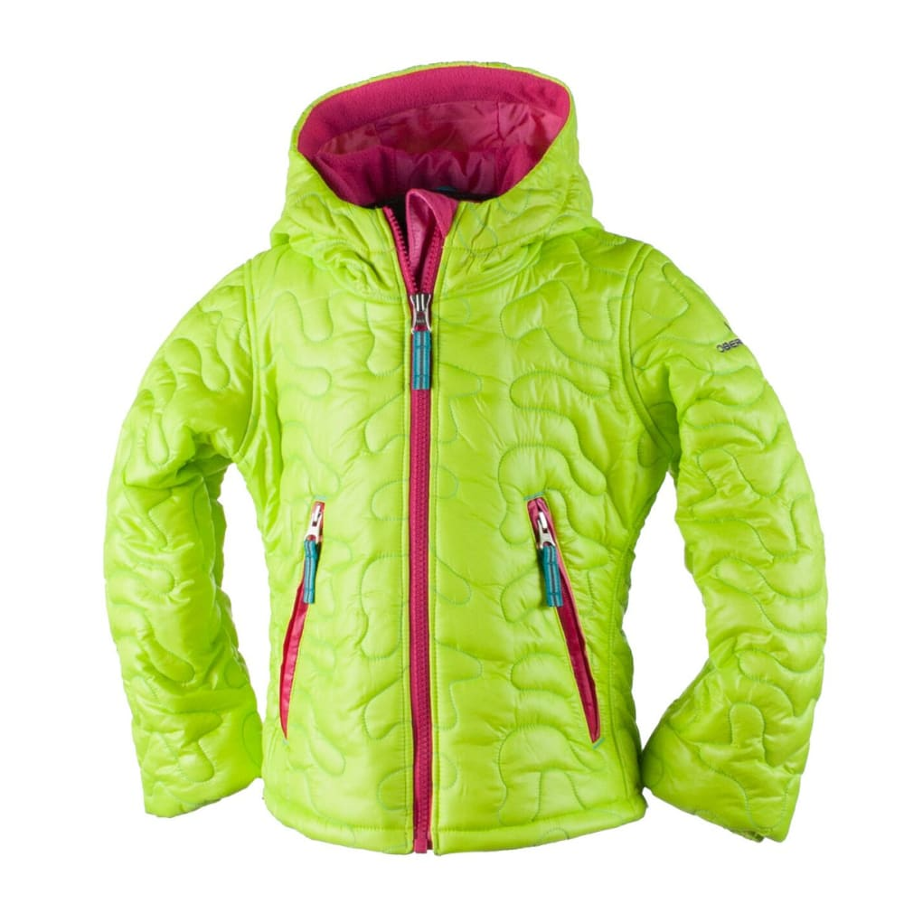 OBERMEYER Girls' Comfy Jacket - SCREAMIN' GREEN