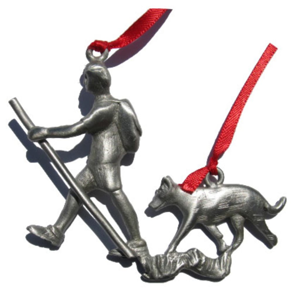 CREATIVELY YOURS Hiker with Dog Ornament - NO COLOR