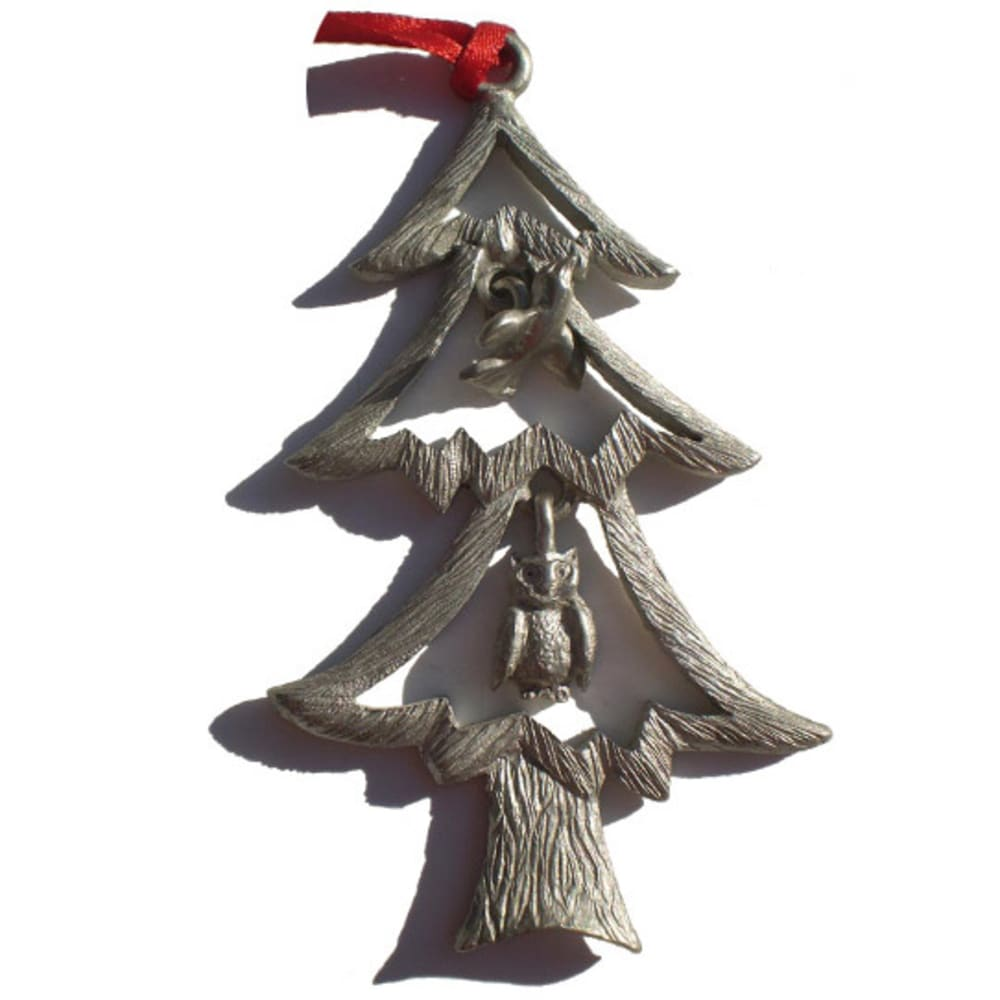 CREATIVELY YOURS Tree with Bird and Owl Ornament - NO COLOR