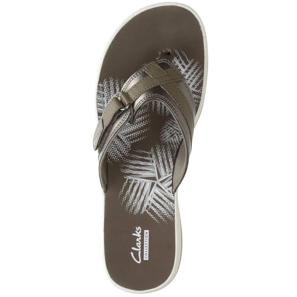 CLARKS Women's Breeze Sea Sandals - PEWTER