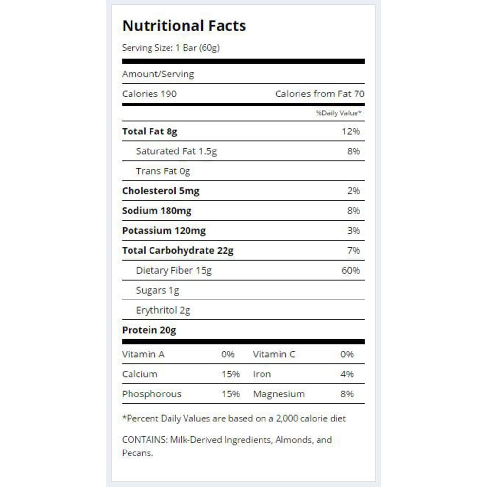 QUEST Oatmeal Chocolate Chip Protein Bar - NO COLOR