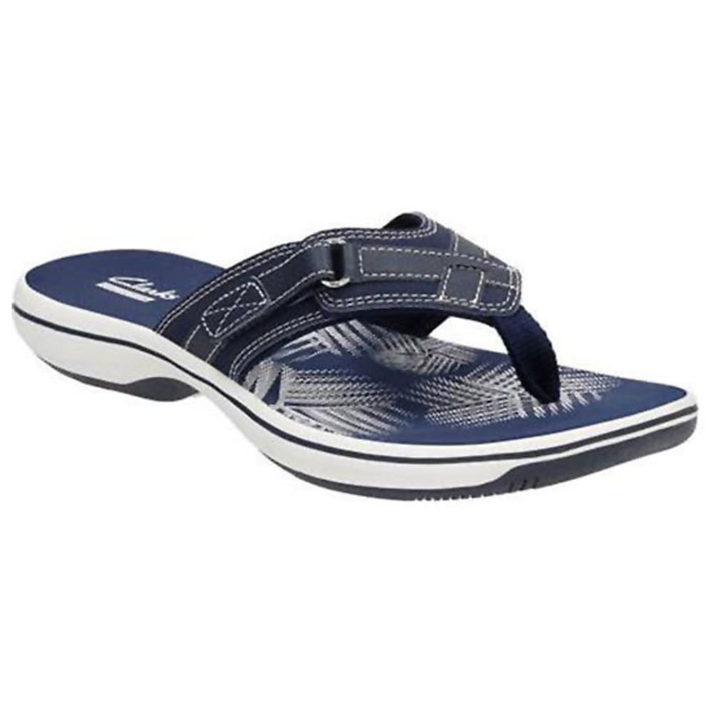 CLARKS Women's Breeze Sea Flip-Flops, Navy 10
