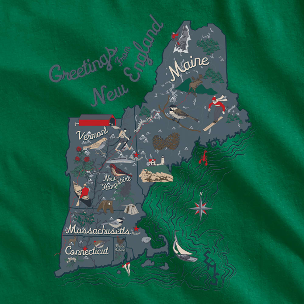 EMS® Men's Visit New England Graphic Tee - EDEN
