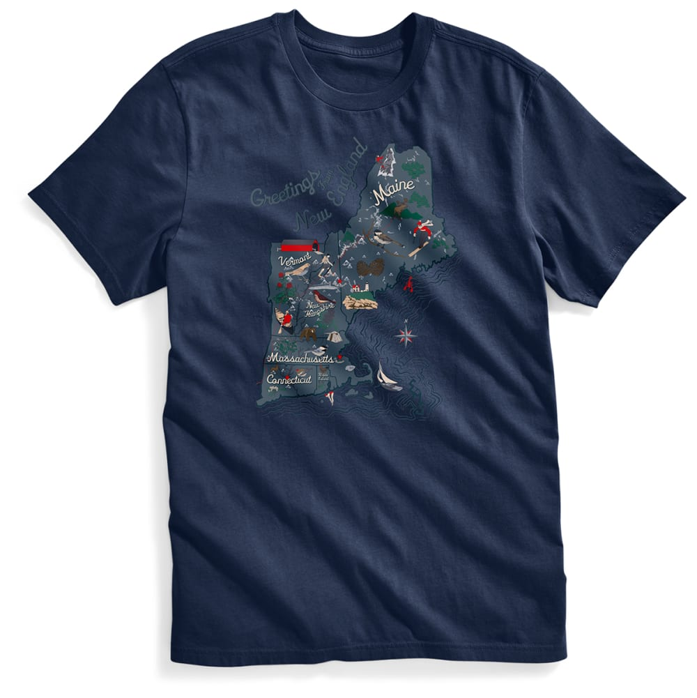 EMS® Men's Visit New England Graphic Tee - NAVY BLAZER