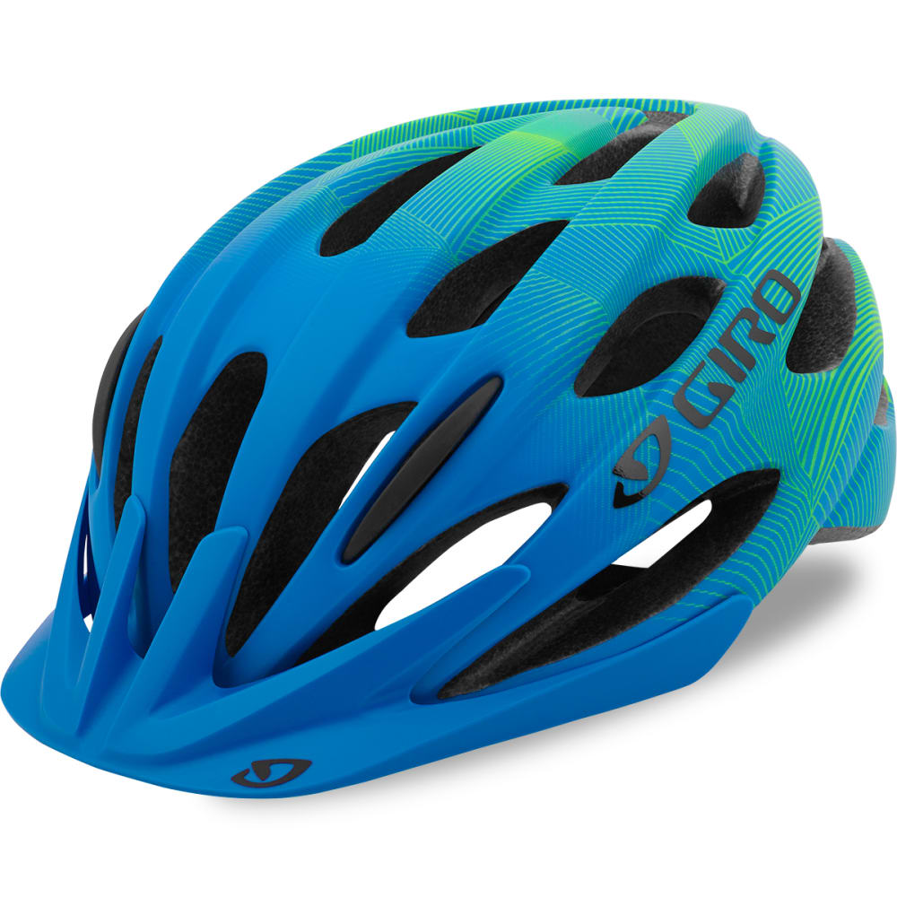 GIRO Kids' Raze Universal Bicycle Helmet - MATTE BLUE/LIME
