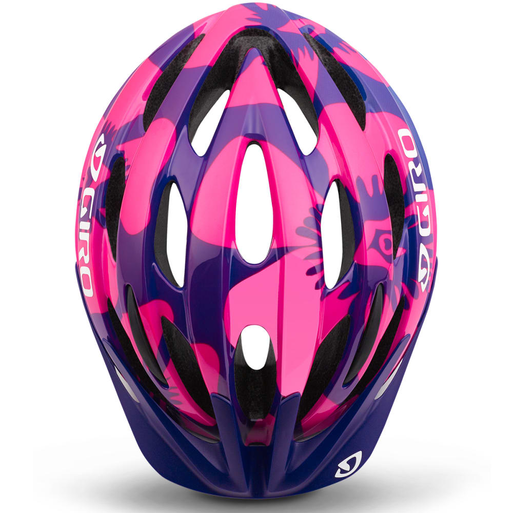 GIRO Kids' Raze Universal Bicycle Helmet - BERRY/BLUE FLOWERS