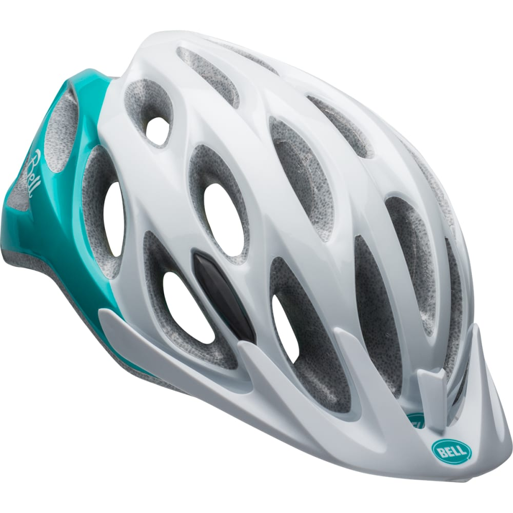 BELL Women's Coast Joy Ride Cycling Helmet - WHITE/EMERALD
