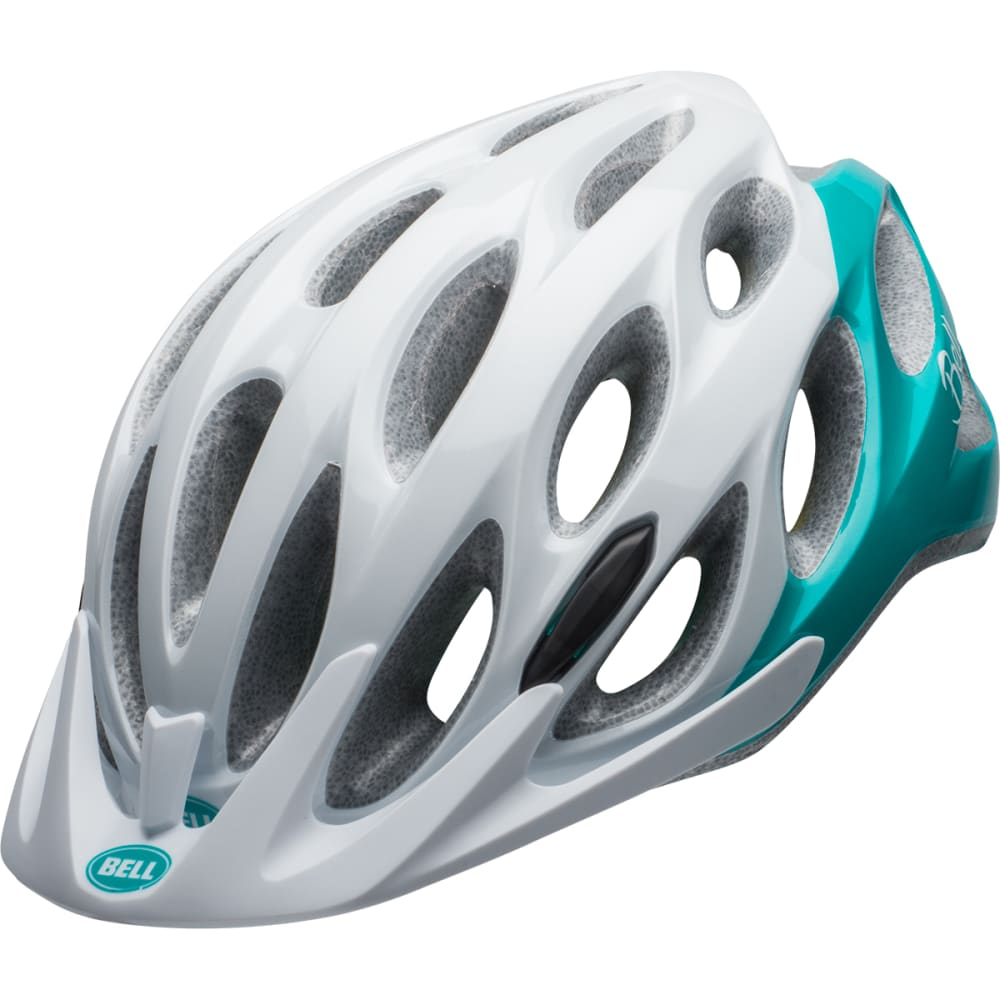 BELL Women's Coast Joy Ride Cycling Helmet - WHITE/EMERALD