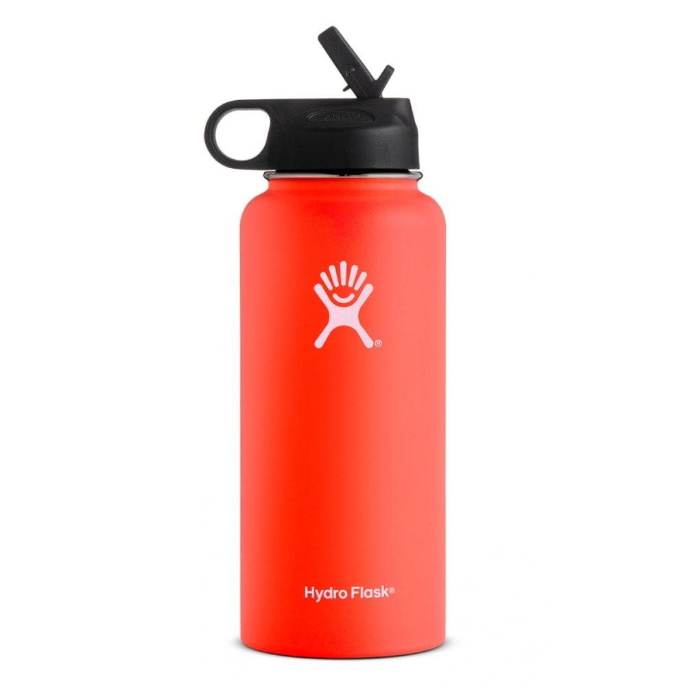 HYDRO FLASK 32 oz. Wide Mouth With Straw Lid, Tangelo - TANGELO
