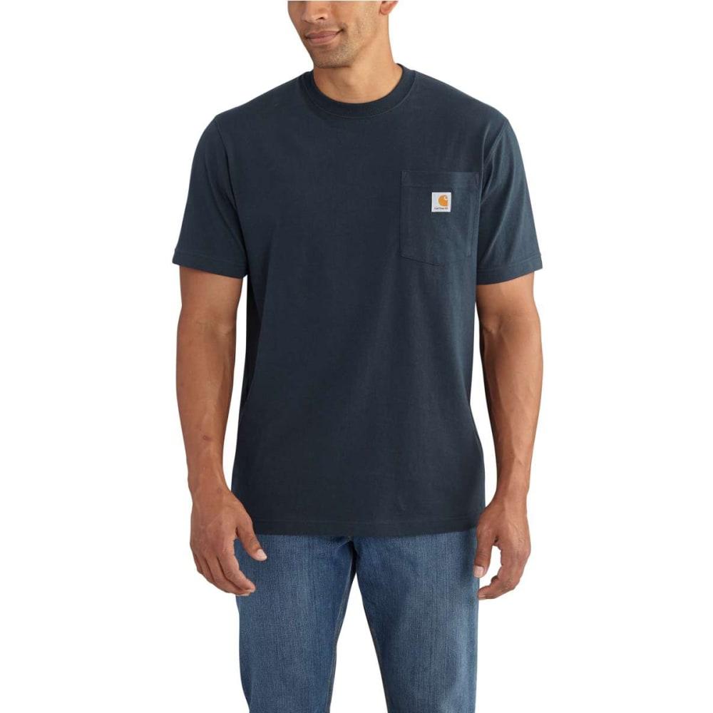 CARHARTT Men's Graphic Branded C Pocket Short Sleeve T-shirt - NAVY-412