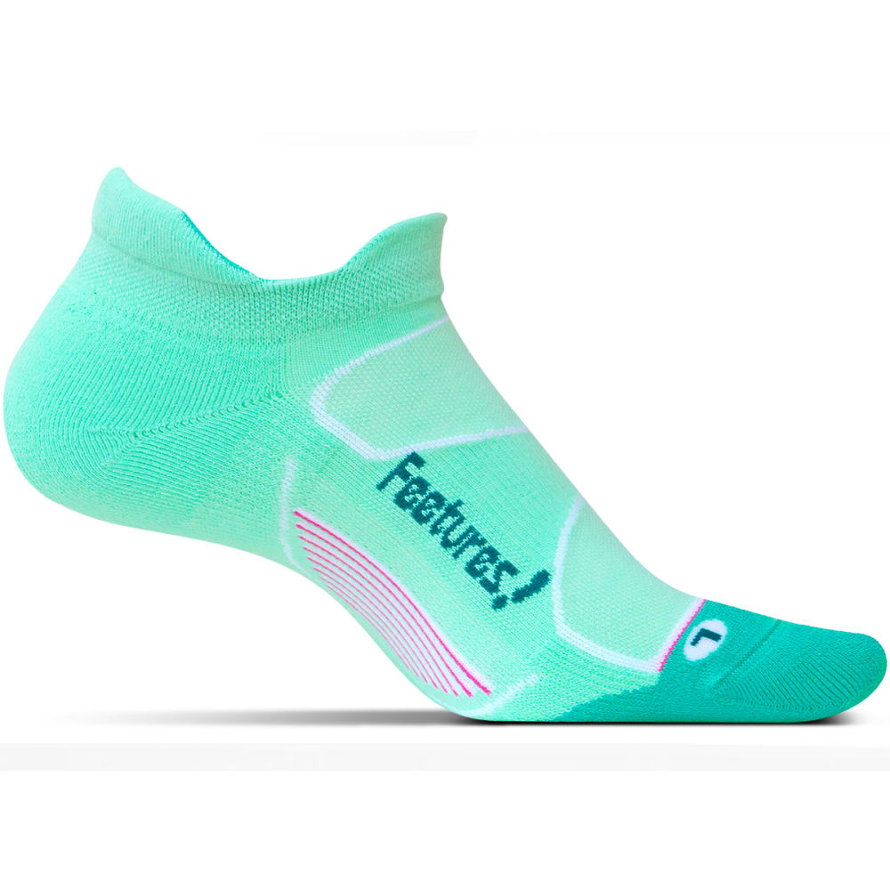 FEETURES Unisex Elite Max Cushion No-Show Tab Socks - MINT/CAPRI