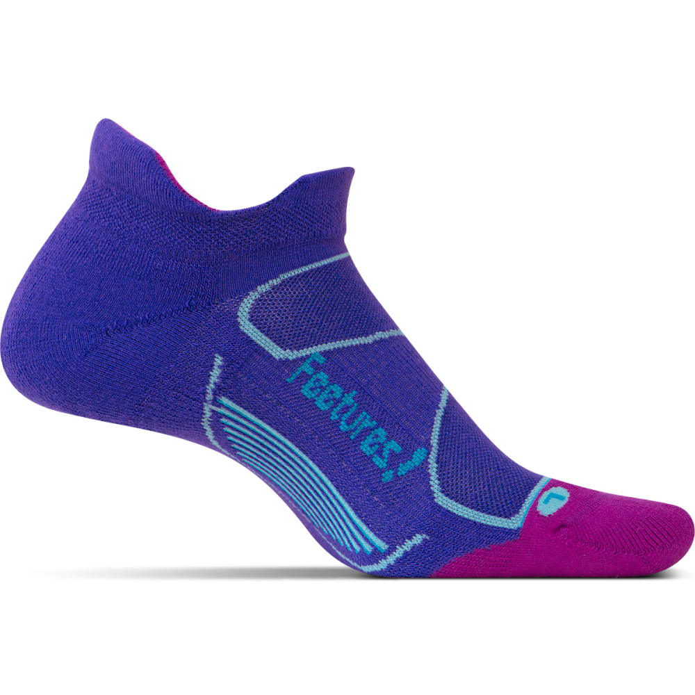 FEETURES Unisex Elite Max Cushion No-Show Tab Socks - IRIS/HAWAIIAN BLU