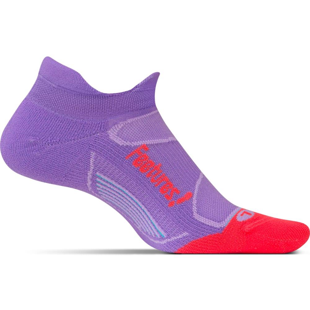 FEETURES Unisex Elite Light Cushion No-Show Tab Socks - VIOLA/LAVA