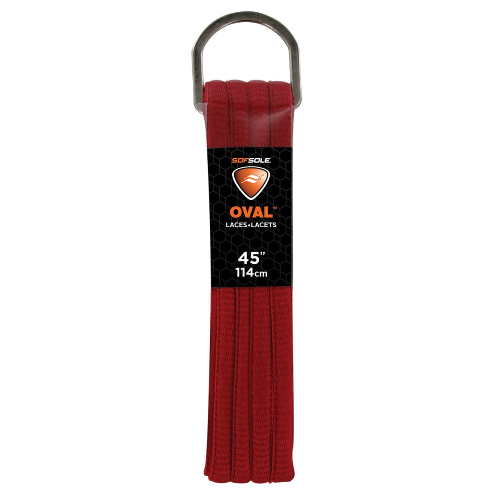 SOF SOLE 45 in. Athletic Oval Laces - RED 84860