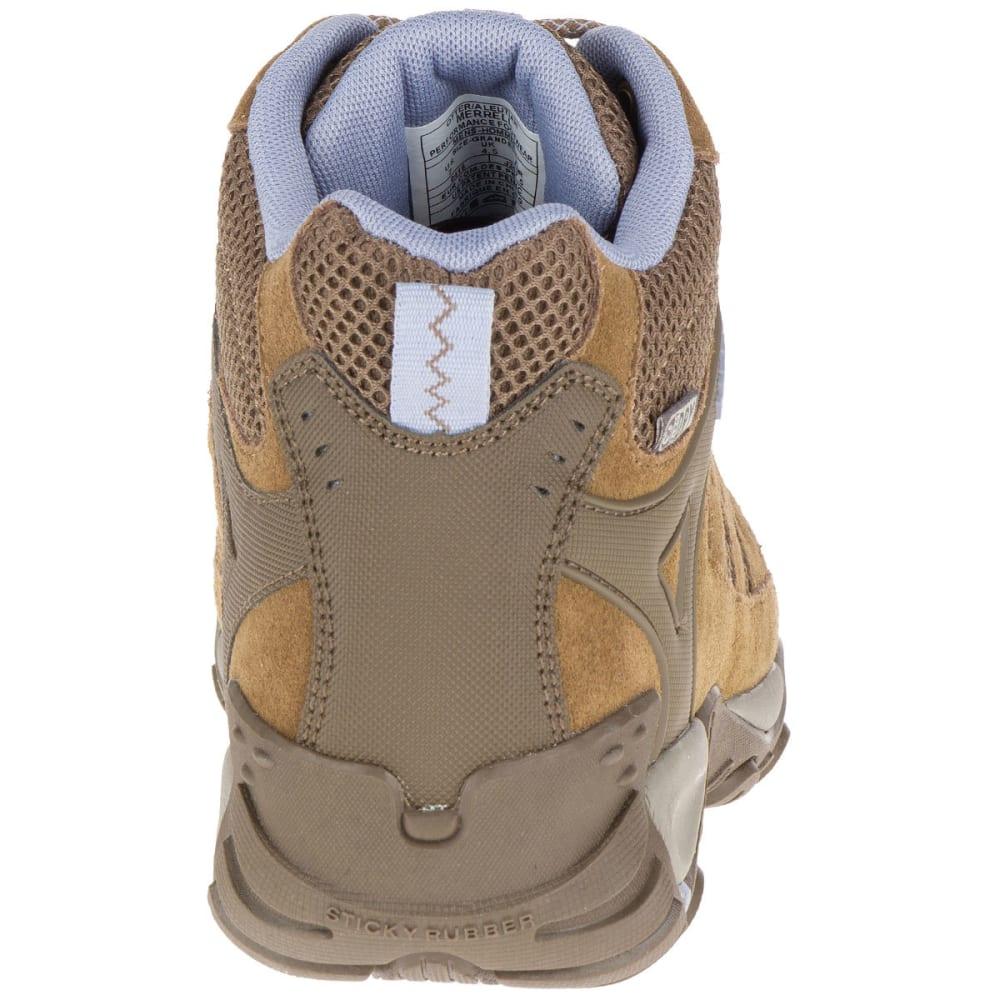 MERRELL Women's Accentor Mid Ventilator Waterproof Hiking Boots, Otter/Aleutian - OTTER/ALEUTIAN
