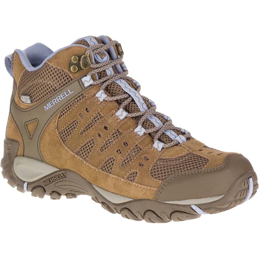 Merrell Women's Accentor Mid Ventilator Waterproof Hiking Boots, Otter/aleutian - Brown - Size 10 J342294C