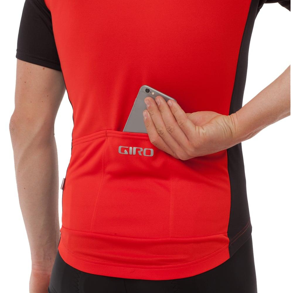 GIRO Men's Chrono Sport Half Zip Cycling Jersey - BRIGHT RED