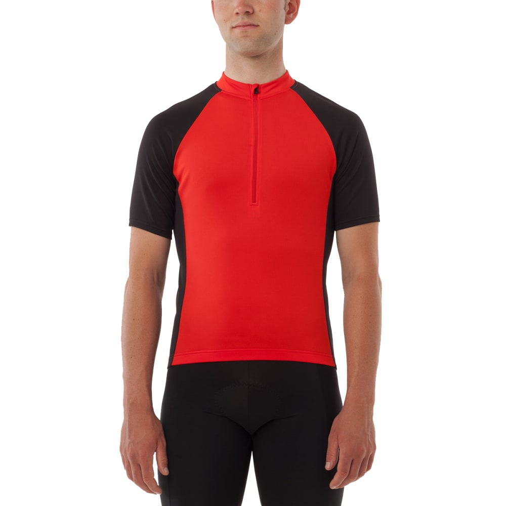 GIRO Men's Chrono Sport ½-Zip Cycling Jersey - BRIGHT RED